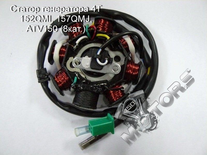 Статор генератора 4T 152QMI, 157QMJ, ATV150 (8катушек)