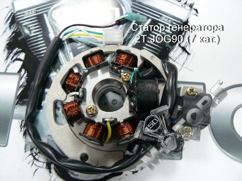 Статор генератора 2Т 1E40QMB (7 кат.) 5 проводов, Stels Tactic, Skif