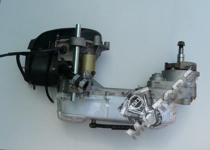 Двигатель в сборе 1E40QMB 2t 50cc Irbis Centrino. 12 база