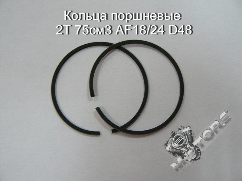 Кольца поршневые для скутера 2Т 75см3 AF18/24 D48 DIO