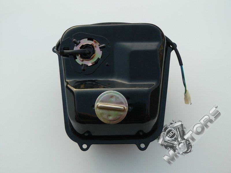 Бак топливный для скутера CENTRINO, F22 в сборе (крышка, датчик уровня топлива)