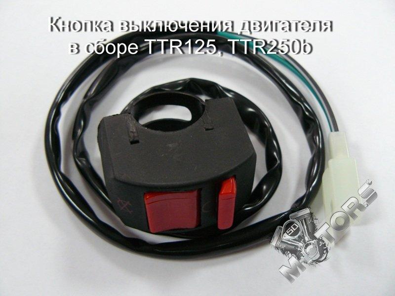 Кнопка выключения двигателя в сборе для питбайка TTR125, TTR250b