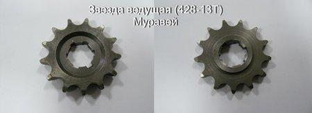 Звезда ведущая размер(428-13T) мотороллер Муравей