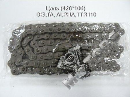 Цепь модель, размер(428*106) DELTA, ALPHA, IRBIS TTR110