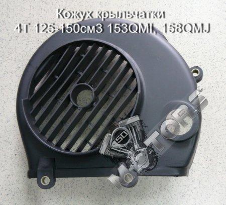 Кожух крыльчатки 4T 125-150см3 153QMI, 158QMJ, STELS TACTIC 150