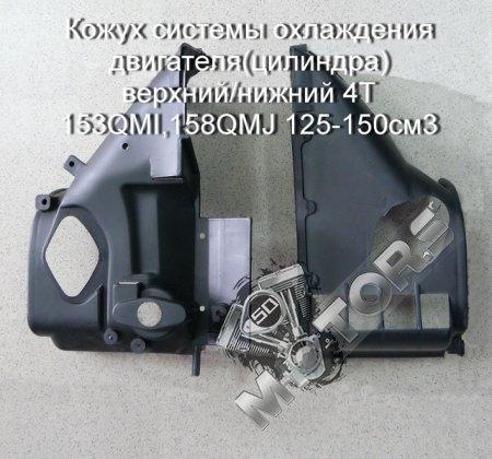 Кожух системы охлаждения двигателя(цилиндра) верхний/нижний 4T 153QMI,158QMJ 125-150см3, STELS TACTIC 150