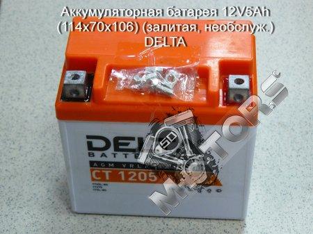 Аккумуляторная батарея 12V5Ah размер(114x70x106)DELTA