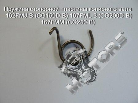 Пружина стопорной пластины копирного вала 162FMJ-B (CG150D-B) 167FML-3 (CG200D-B) 167FMM (CG250-B)