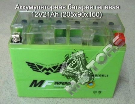 Аккумуляторная батарея гелевая 12V21Ah (205x90x160)
