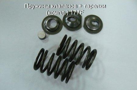 Пружины клапанов + тарелки (компл.) 177F